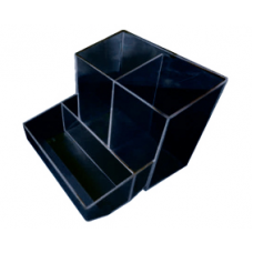 Trio de Mesa Quadrado (preto opaco) c/ 1 pç