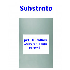 Substrato pac.10 folhas 350x250 mm cristal Carbrink