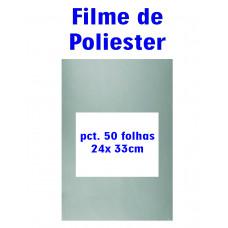 Filme de Poliester 24x33 cm -Pacote c/50 folhas