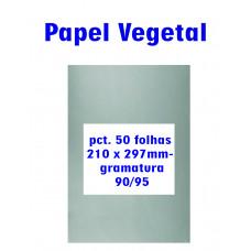 Papel vegetal 50 folhas 210x297mm – gramatura 90/95
