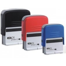 Colop Standard 40 - 23 x 59 mm (preto/vermelho/azul)