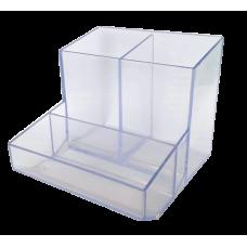 Trio de mesa quadrado (lapis/clipes/lembrete) - Cristal