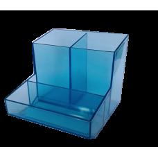 Trio de mesa (lapis/clipes/lembrete) - Azul translucido