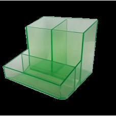 Trio de mesa (lapis/clipes/lembrete) - Verde Translucido