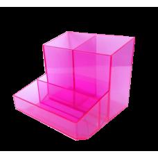 Trio de nessa (lapis/clipes/lembrete) - Rosa Translucido