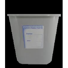 Cesto para lixo 15 litros - Cinza