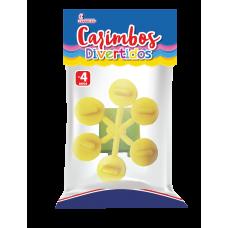 Carimbos Recreativos - 6 desenhos + carimbeira