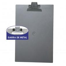 Prancheta plástica oficio fume garra metal