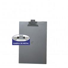 Prancheta plástica 1/2 oficio fume  garra metal