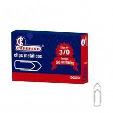 Clips N 3/0 caixa peq. c/ 50 pçs