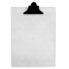 Prancheta plastica oficio cristal garra plastica *