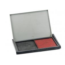 Almofada Bicolor - preta/vermelha (80X70mm)