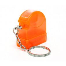 Carimbo Flash HT 10x28mm - chaveiro laranja