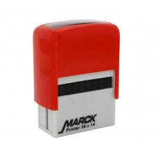 Carimbo Marck 38x14 mm vermelho
