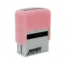 Carimbo Marck 38 x 14 mm rosa