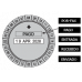 Datador c/ base manual relógio 24 horas 50mm
