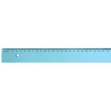 Régua de 30 cm  Larga - Azul Transparente