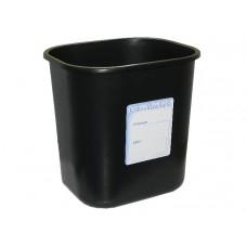 Cesto de papel preto 15 litros  c/ 10 pçs